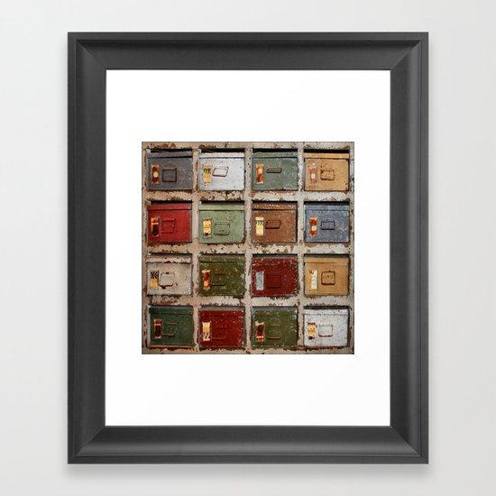 Drawers Framed Art Print