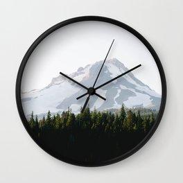 mountain magic hour Wall Clock