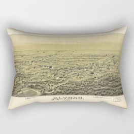 Aerial View of Alvord, Texas (1890) Rectangular Pillow