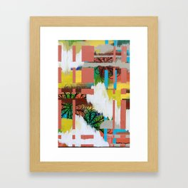 """cloudy color"" Framed Art Print"