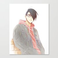 sasuke Canvas Prints featuring Undercut Sasuke by Dymx