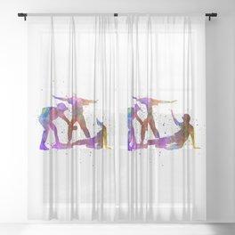 baseball players 01 Sheer Curtain