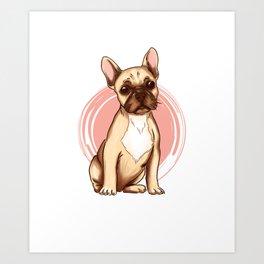 Bulldogs motif Frenchie dog owner gift Art Print