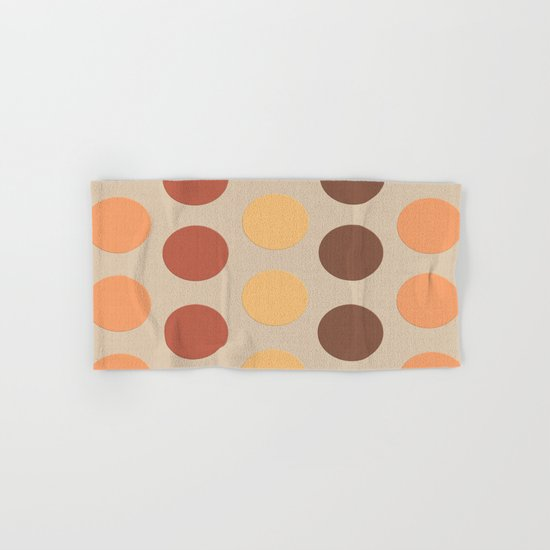 Autumn Polka Dots Hand & Bath Towel