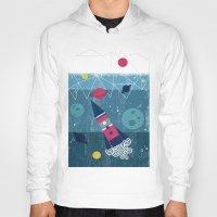 spaceship Hoodies featuring Spaceship by Kakel