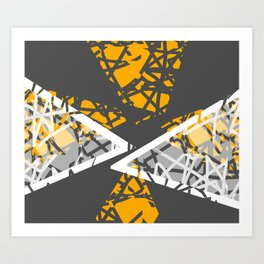Converge - abstract art by Ann Powell Art Print