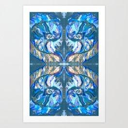 Blueshell Art Print