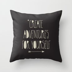 Create Adventures Throw Pillow