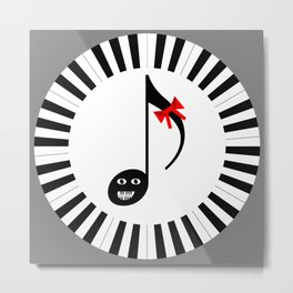 Music 72gon with Cute Eighth note Metal Print