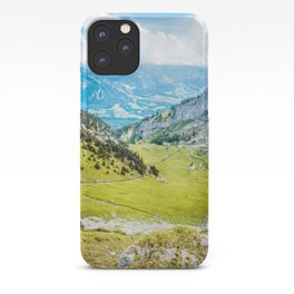 View From Swiss Alps | Switzerland Nature Landscape Mountain Photography iPhone Case