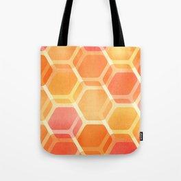 Pastel Hexa Tote Bag