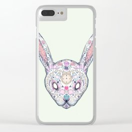 Wonderland Rabbit Sugar Skull Clear iPhone Case