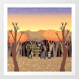 Over the Garden Pixel Art Print