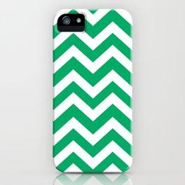 GO green - green color - Zigzag Chevron Pattern iPhone Case