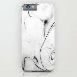 Elegant white marble image iPhone Case