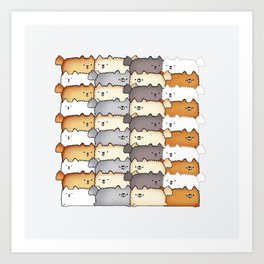 Sweet Little Fluff Balls Art Print