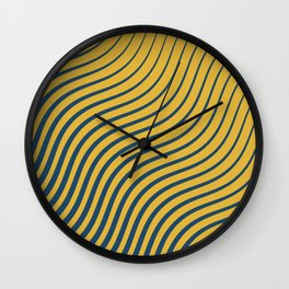 2 colours waves II Wall Clock