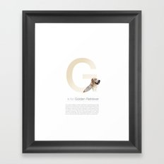 G is for Golden Retriever Framed Art Print