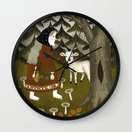 Galiena's goat Wall Clock
