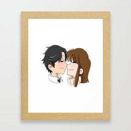Jumin X MC Valentine's Day Framed Art Print