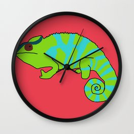 The Sneaky Chameleon Wall Clock