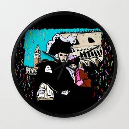 Venice carnival Wall Clock