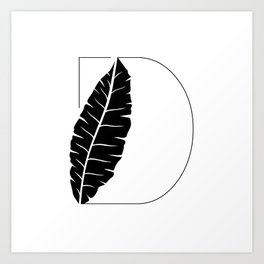 Palm D Art Print