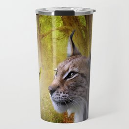 Canadian Lnx and Squirrel Travel Mug