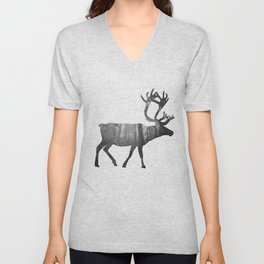 Moose Silhouette | Forest Photography Unisex V-Neck