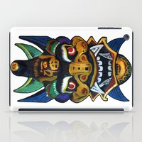 chinese iPad Cases featuring Chinese Mask by Ron Trickett