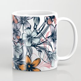 Floral beautiful vector illustration with hand drawn flowers Coffee Mug
