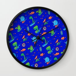 Dino Race Wall Clock