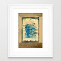 letter Framed Art Prints featuring Letter by Irmak Akcadogan