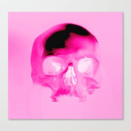 Magenta Skull Canvas Print