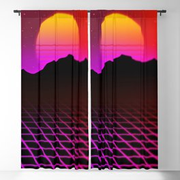 80s Vibes Blackout Curtain