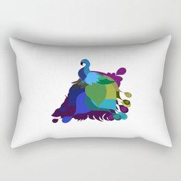 Geometric Modern Peacock Rectangular Pillow