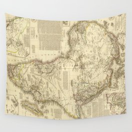 Vintage Map of Africa (1828) Wall Tapestry