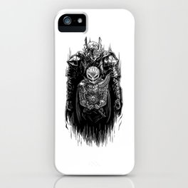 Black Swordsman iPhone Case