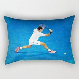 Roger Federer Sliced Backhand Rectangular Pillow