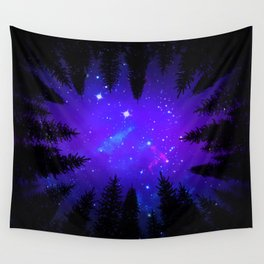 Magical Forest Galaxy Night Sky Wall Tapestry