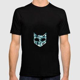 Turquoise Cat T-shirt