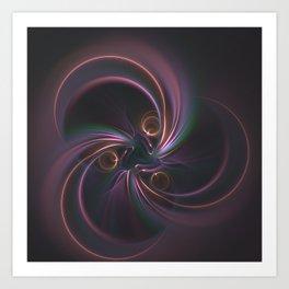 Moons Fractal in Warm Tones Art Print