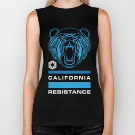 California Resistance Bear Flag Biker Tank
