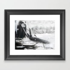 Winter calm Framed Art Print