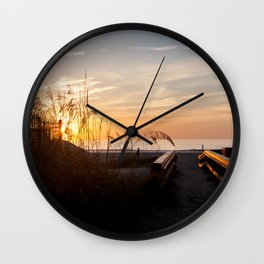 Pathway to the Beach Wall Clock
