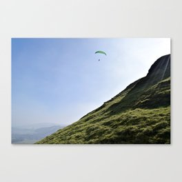 Paraglider in England's Peaks Canvas Print