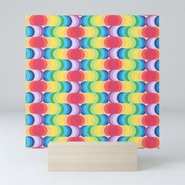 Rainbow Dragon Scales 2 Mini Art Print