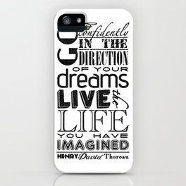 Henry David Thoreau Dreams Quote iPhone Case