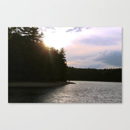 Sunset at Concord's Walden Pond 2 Canvas Print