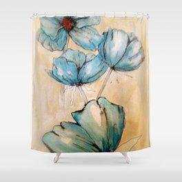 Vintage Blue Shower Curtain